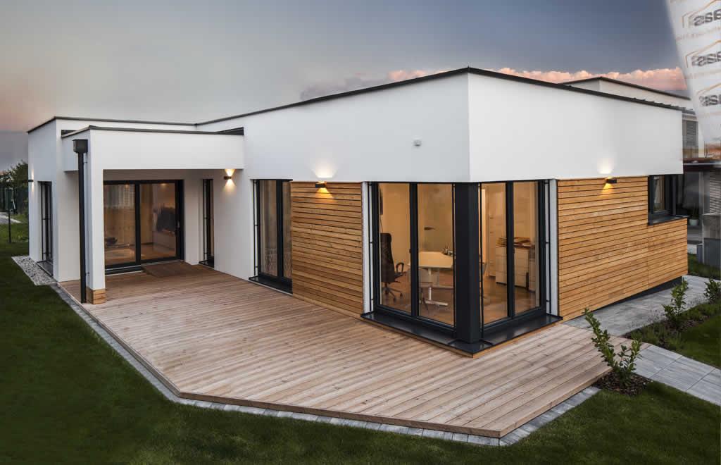 musterhaus terra 110 von haas in der blauen lagune blaue. Black Bedroom Furniture Sets. Home Design Ideas