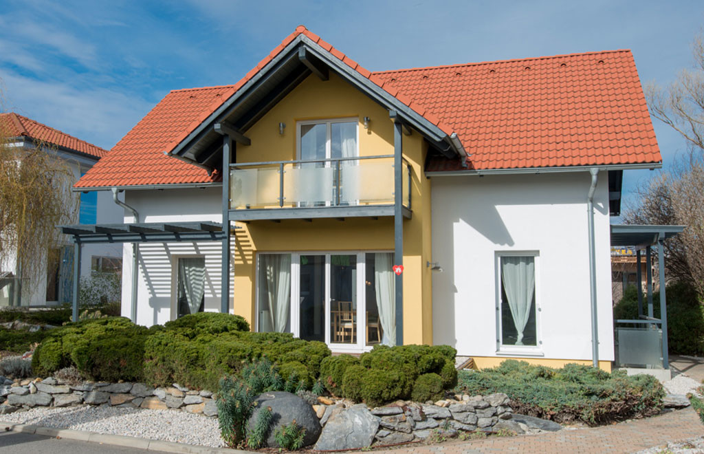 Musterhaus Solution Wien Von Living Fertighaus Blaue Lagune
